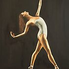 "Fine art ballerina painting ""Graceful movement"" by barryjdavisart"