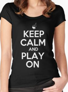 Keep Calm and Play On Bagpipes Women's Fitted Scoop T-Shirt