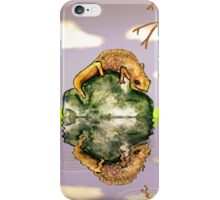 Reflect upon yourself on a rainy day iPhone Case/Skin