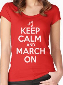 Keep Calm and March On Women's Fitted Scoop T-Shirt