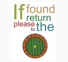 If Found Please Return to the Shire Kids Tee