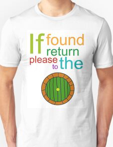 If Found Please Return to the Shire T-Shirt