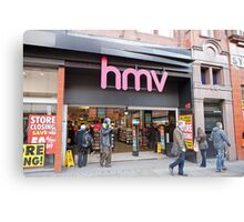 HMV  Shop  Manchester Canvas Print