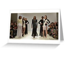 Carlotta Actis Barone's Collection 4 London Fashion Week AW13  Greeting Card