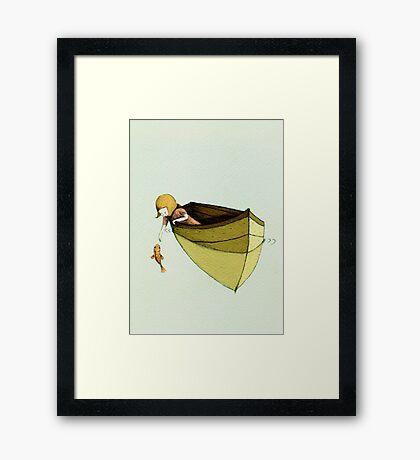 Sofi and the Fish Framed Print