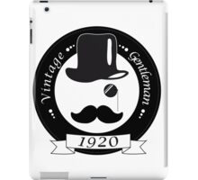 Vintage gentleman iPad Case/Skin