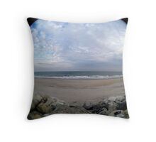 Sea Bright After Sandy Throw Pillow