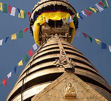 Swayambhunath stupa by Christopher Cullen