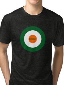Saint Patrick's Day lucky target  Tri-blend T-Shirt