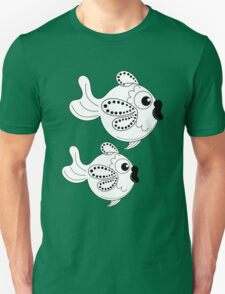 Cute Fish in Black and White Unisex T-Shirt