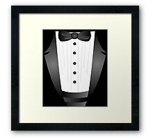 Groom wedding party bachelor party novelty Tuxedo  Framed Print