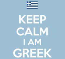 Keep Calm I'M GREEK Kids Clothes
