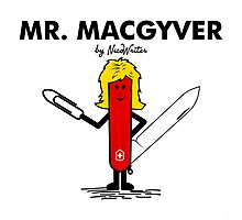 Mr Macgyver Photographic Print