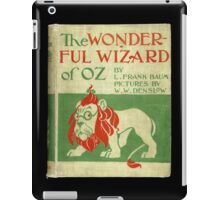 Vintage Wizard Of Oz Book Cover iPad Case/Skin