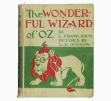 Vintage Wizard Of Oz Book Cover Kids Tee