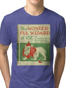 Vintage Wizard Of Oz Book Cover Tri-blend T-Shirt