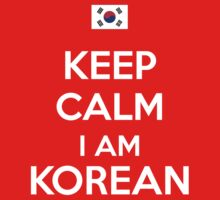 Keep Calm im Korean Kids Clothes