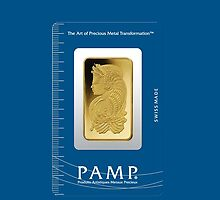 PAMP 1 Ounce Gold Ingot Fortuna by jlerner