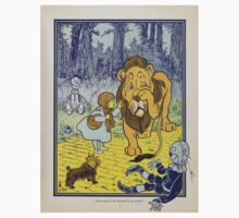 Cowardly Lion Vintage Illustration Kids Clothes