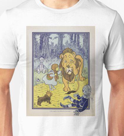 Cowardly Lion Vintage Illustration Unisex T-Shirt