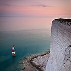 Beachy head lighthouse sunset by willgudgeon