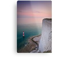 Beachy head lighthouse sunset Metal Print