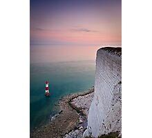 Beachy head lighthouse sunset Photographic Print