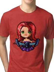 Pixel Pentakill Sona Tri-blend T-Shirt