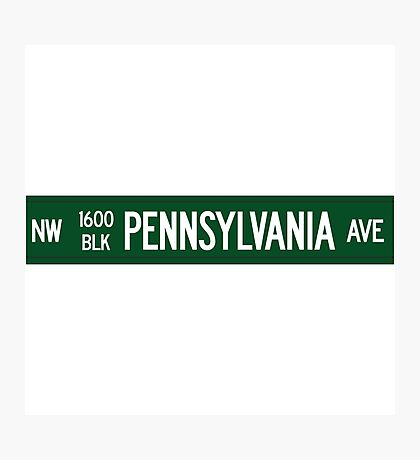 1600 Pennsylvania Avenue, Washington DC Photographic Print