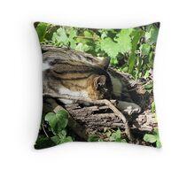 Tree Cat House Throw Pillow