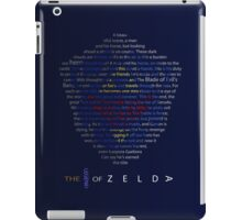 The Legend of Zelda Shield Poem iPad Case/Skin