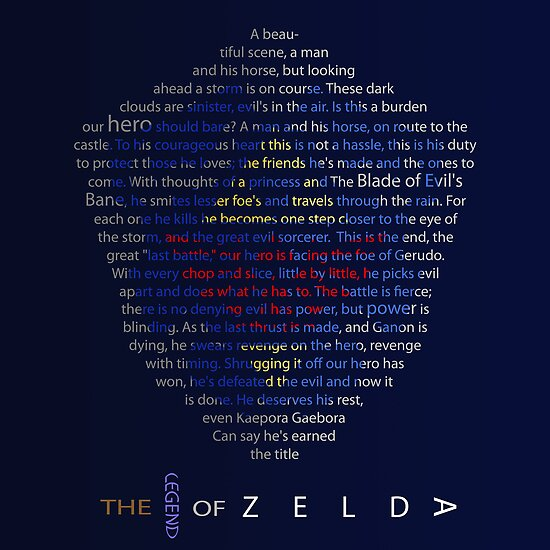 The Legend of Zelda Shield Poem by Tanner Shelton