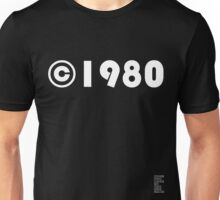 Year of Birth ©1980 - Dark variant (1) Unisex T-Shirt
