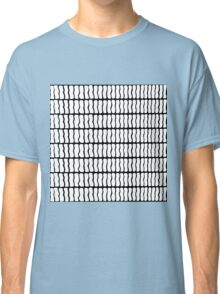Modern Black and White Hand Drawn Pattern Classic T-Shirt
