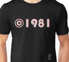 Year of Birth ©1981 - Dark variant (2) Unisex T-Shirt