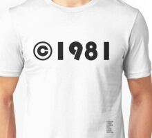 Year of Birth ©1981 - Light variant Unisex T-Shirt