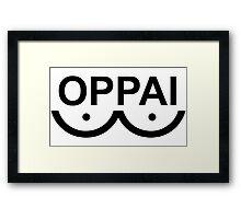 Oppai - One punch man Framed Print