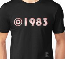 Year of Birth ©1983 - Dark variant (2) Unisex T-Shirt