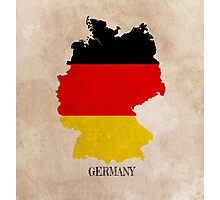 Germany map Photographic Print