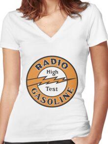 Radio Gasoline High Test T-shirt Women's Fitted V-Neck T-Shirt