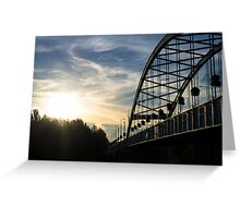 A Bridge in the Rising Sun Greeting Card