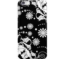 Black and White Floral Damask Iphone and Ipod Cases iPhone Case/Skin