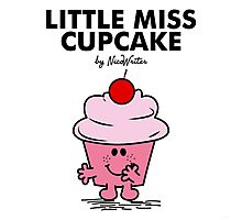 Little Miss Cupcake Photographic Print