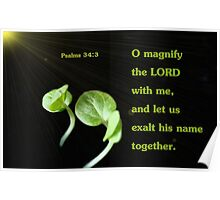Let Us Exalt His Name Together Poster
