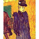 Henri de Toulouse-Lautrec - Jane Avril leaving the Moulin Rouge (1892) by ziruc