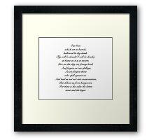 Beer Prayer Framed Print