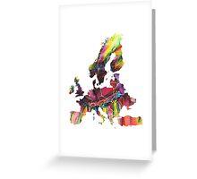 Europe Map eye Greeting Card