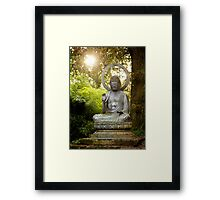 Buddha in the Sun Framed Print