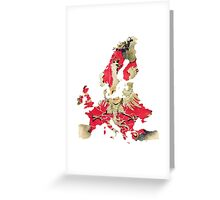 Europe Map political Greeting Card