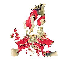 Europe Map political Photographic Print